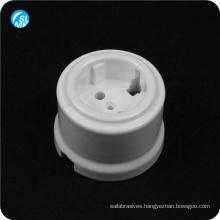 hot pressing glazed 95 alumina ceramic wall socket white lamp parts
