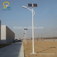 le solaire mené réverbère mené solaire de réverbère 3 12m et 10w 120w a mené la batterie de gel de lampe