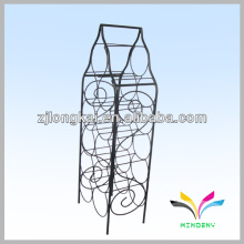 Sturdy stacking functional foldable black wire metal beer bottle storage rack
