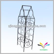 Empilhamento robusto, dobrável e funcional, dobrável, fio preto, metal, garrafa, garrafa, armazenamento, rack