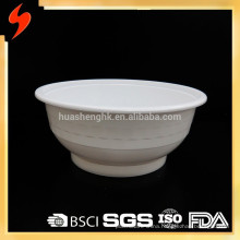 Free Sample Large 178mm-dia White Plastic Sealable 40oz Disposable Bowl