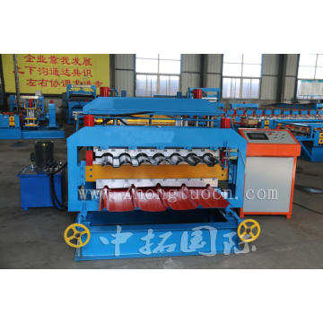 Color Steel Glazed Trapezoidal Sheet Roof Tile Machine