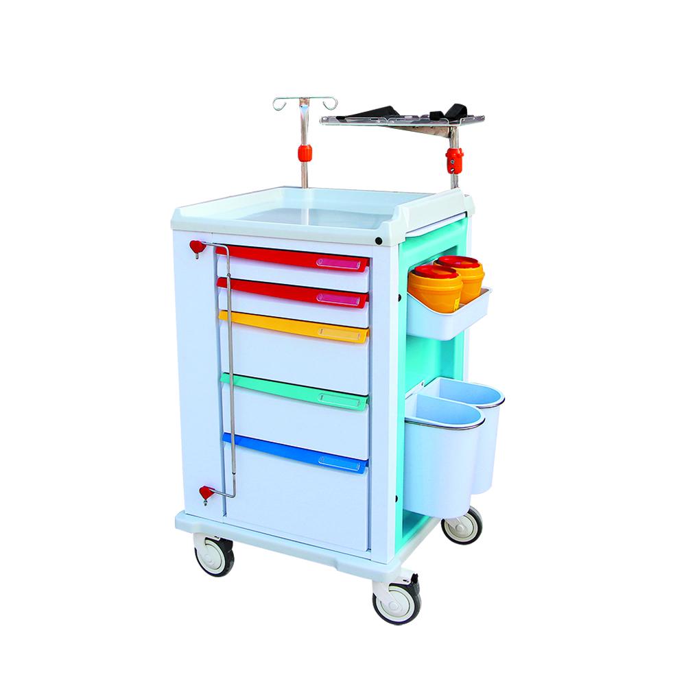 emergency trolley in hospital equipment