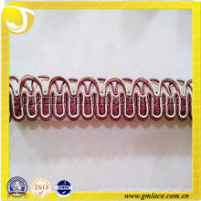Franja del ajuste de la alta calidad, ajustes de los accesorios de los textiles, franja del gimp