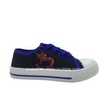 Zapato de lona infantil Spide Man Printing (X171-S & B)
