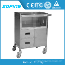 SF-HJ3070 hospital ues stainless steel anesthesia trolley