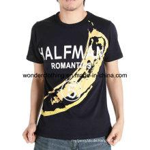 Benutzerdefinierte Mode Design Mann Screan Printing Fertigung in Chion Baumwolle T-Shirt