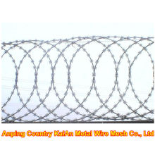 Varios de alambre de púas / alambre de afeitar galvanizado / alambre de afeitar recubierto de PVC / alambre de púas ---- 30 años de fábrica