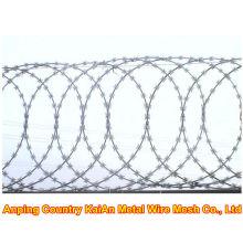 Différents fil de fer barbelé / fil de rasoir galvanisé / fil de rasoir revêtu de PVC / fil barbelé ---- usine de 30 ans