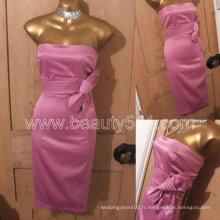 Nouveau design Vintage 50s Repro Wiggle Pencil Rose Satin Pinup Marilyn Monroe Bow Dress GP006
