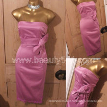 New Design Vintage 50s Repro Wiggle Pencil Pink Satiny Pinup Marilyn Monroe Bow Vestido GP006