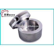 Personalizado de alta precisão liga de alumínio CNC Torneamento de usinagem, Liga de titânio virou parte