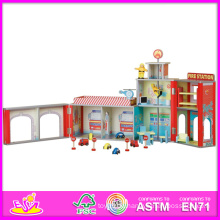 2014 Fashion New Holz Puppenhaus Modell Spielzeug, Großhandel DIY Holz Puppenhaus Spielzeug, 3D Bunte Baby Holz Puppenhaus Set Fabrik W06A048