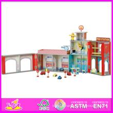 2014 mode nouveau jouet de modèle de maison de poupée en bois, gros jouet en bois de maison de poupée en bois, 3d coloré bébé ensemble de maison de poupée en bois usine w06a048