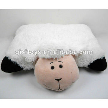 soft stufffed plush animal white pillow