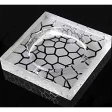 Cinzeiro de cristal de gravura a quente para decoração de casa e escritório (JD-CA-810)