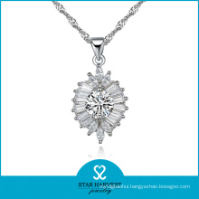 AAA Zirconia Queen Crown Jewelry 925 Sterling Silver Jewelry Necklace