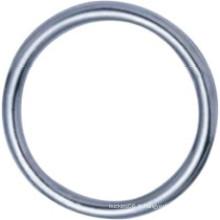Bague ronde soudée en métal en acier inoxydable