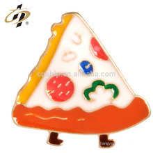 Aleación de encargo que estampa el perno de la insignia de la pizza del metal del logotipo del esmalte con el imán