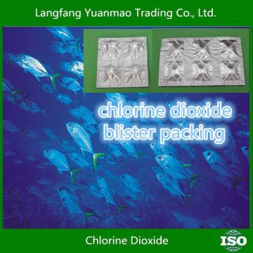 Chlordioxid Blister Verpackung / Alibaba Bester Verkauf / umweltfreundliche Desinfektionsmittel Fungizid Chemikalien für die Aquakultur