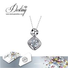 Судьба ювелирные изделия кристалл из Swarovski ожерелье в сердце кулон