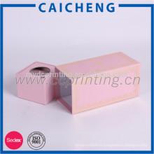 Boîte d'emballage de cadeau de papier rose personnalisé