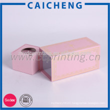 Custom pink paper gift packaging box