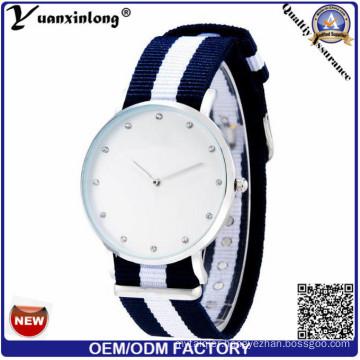 Yxl-255 Men′s Military Sports Wrist Watches Nato Nylon Watchband Males Geneva Stripe Quartz Clock Wristwatch Lady