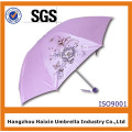 Design Your Own Red Promotional Folding Umbrella with Logo Printing