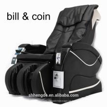 Cadeira de massagem operada com papel moeda de luxo