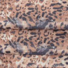Doublure imprimée en polyester avec le léopard