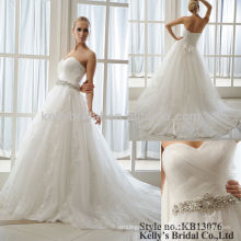 white sweet heart neck bridal dresses for pregnant women