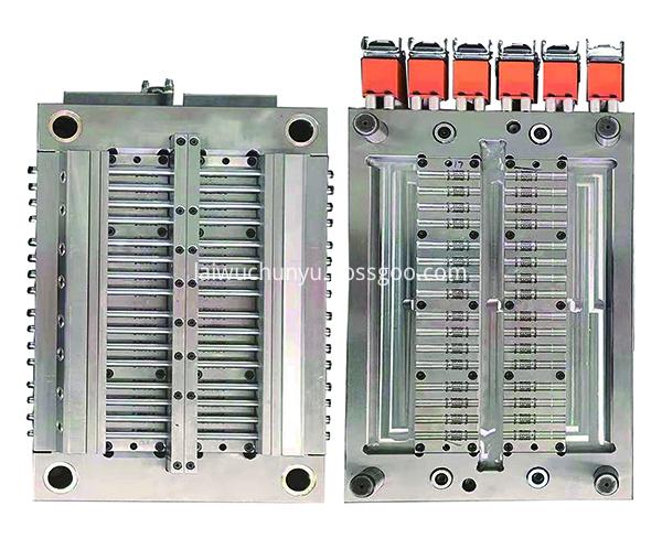 32 chamber horizontal full hot runner cylindrical emitter mold one