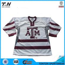 Kundenspezifischer Großhandel Blank Hockey Jersey