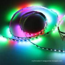 12 & 24volt Artnet a contrôlé coloré 60 leds / m bon marché dmx rgb a mené la lumière de bande