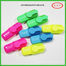 Mini eco-friendly colored ink scented highlighter with fruit flavor