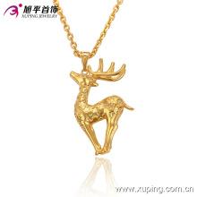 32521 Moda animada Animal Deer-Shaped 24k banhado a ouro imitação de jóias cadeia de pingente