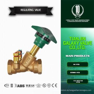 Válvula de equilibrio de doble regulación de orificio fijo