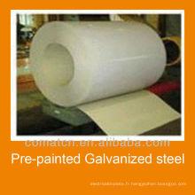 Bobines d'acier galvanisé pré-peint provenant de la Chine, la réputation élevée