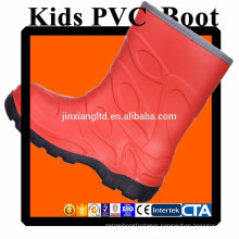 JX-916O CE colorful PVC kids rain boots & rubber rain boots for children