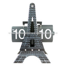 High-quality Eiffel Tower Flip Movement Clock, OEM Orders are Welcome