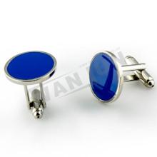 nickel plated blue blank cufflinks for men