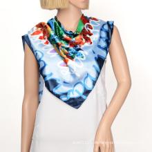 2016 Satin Seide Quadrat Schal Hijabs mit benutzerdefinierten Muster