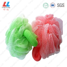 Handle+loofah+pouf+shower+scrubber+sponge