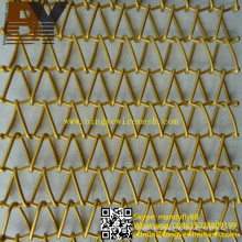 Malla de tejido decorativa espiral Malla cinta transportadora arquitectónica