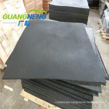 Black Color Plain Surface 12mm Gym Rubber Tiles