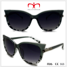 Plastik-Katzenaugen-Sonnenbrille mit Metalldekoration (WSP508319)