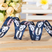Custom new design dog ribbon sublimation ribbon