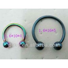 Horseshoe jewelry, Eyebrow rings