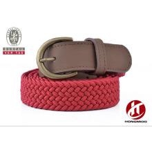 2016 new style braided leather belt children belt